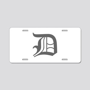 D-oet gray Aluminum License Plate