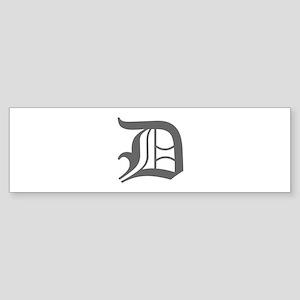 D-oet gray Bumper Sticker