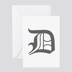 D-oet gray Greeting Cards