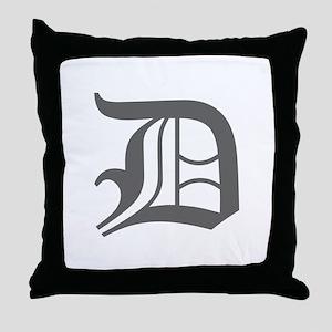 D-oet gray Throw Pillow