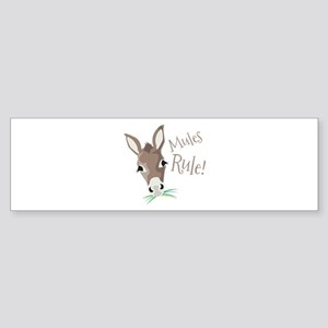 Mules Rule Bumper Sticker