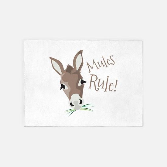 Mules Rule 5'x7'Area Rug