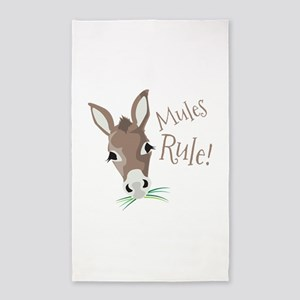 Mules Rule 3'x5' Area Rug