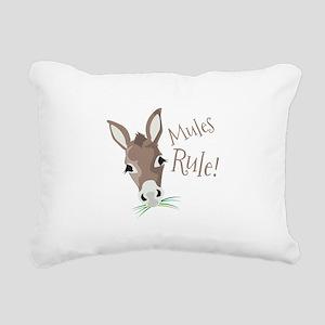 Mules Rule Rectangular Canvas Pillow