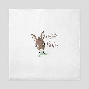 Mules Rule Queen Duvet