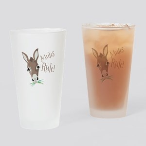 Mules Rule Drinking Glass