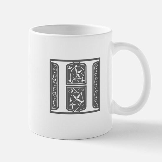 H-fle gray Mugs