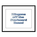 Check for Klingons with this Large Framed Print