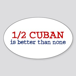 Half Cuban Oval Sticker
