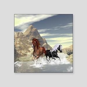 Running horses Sticker