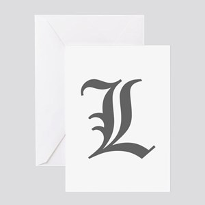 L-oet gray Greeting Cards