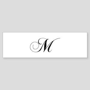 M-cho black Bumper Sticker