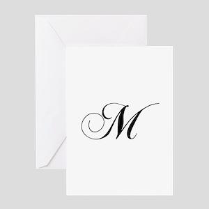 M-cho black Greeting Cards