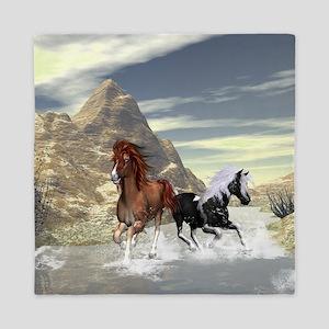 Running horses Queen Duvet