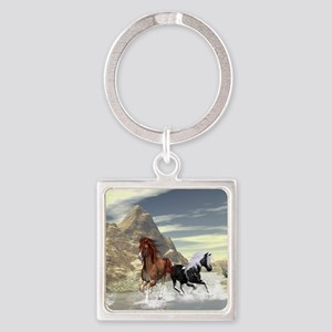 Running horses Keychains