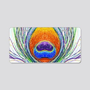 peacock feather Aluminum License Plate