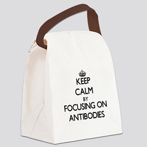 Keep Calm by focusing on Antibodi Canvas Lunch Bag