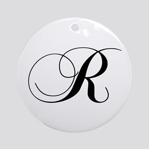 R-cho black Ornament (Round)