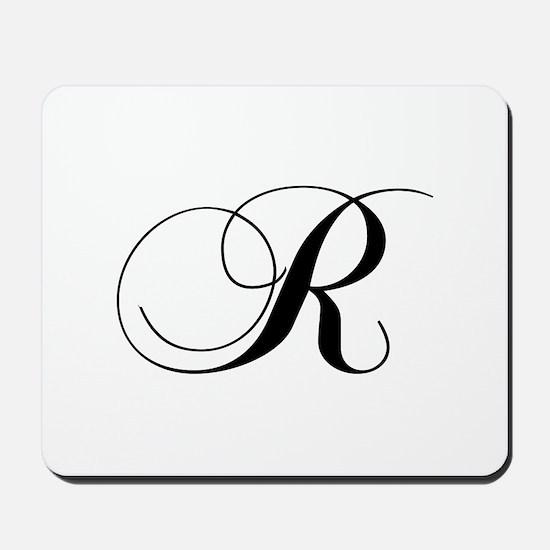 R-cho black Mousepad