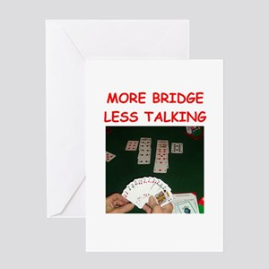 duplicate bridge Greeting Cards