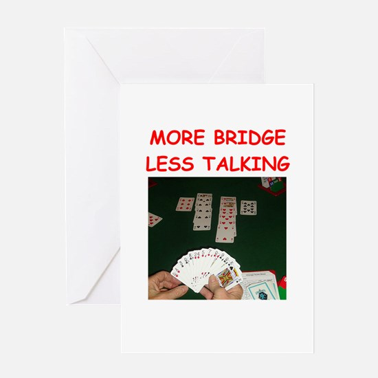 duplicate bridge Greeting Cards