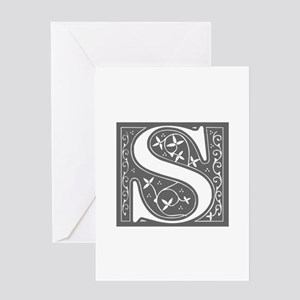 S-fle gray Greeting Cards