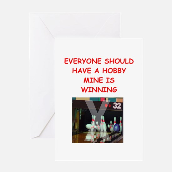 bowling Greeting Cards