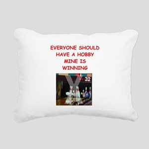 bowling Rectangular Canvas Pillow
