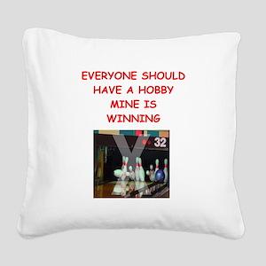 bowling Square Canvas Pillow