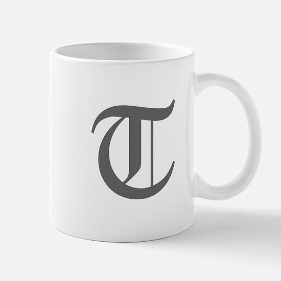 T-oet gray Mugs