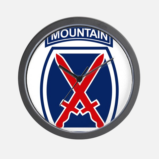 10th Mountain Division.psd.png Wall Clock