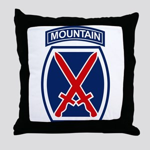 10th Mountain Division.psd.png Throw Pillow