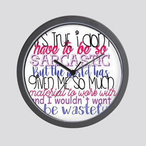 so sarcastic humor Wall Clock