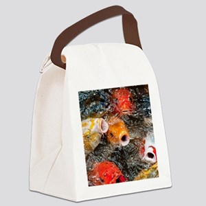 Hungry Koi Canvas Lunch Bag