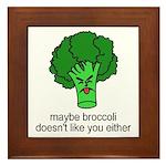 Broccoli Framed Tile