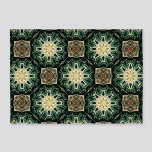 rustic abstract bohemian pattern 5'x7'Area Rug
