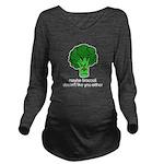 Broccoli Long Sleeve Maternity T-Shirt
