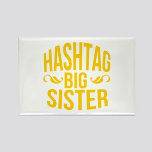 Hashtag Big Sister Rectangle Magnet