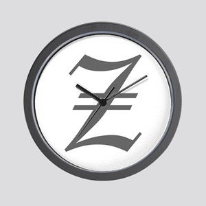 Z-oet gray Wall Clock