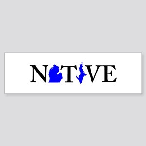 Native Michigander Bumper Sticker