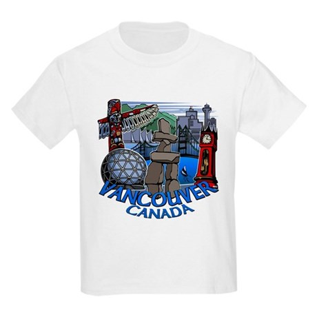 Vancouver Canada Souvenir Kids Light T-Shirt