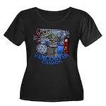 Vancouve Women's Plus Size Scoop Neck Dark T-Shirt