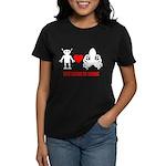 Robot + Octopus Women's Dark T-Shirt