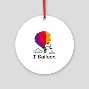 Hot Air Ballooning Ornament (Round)