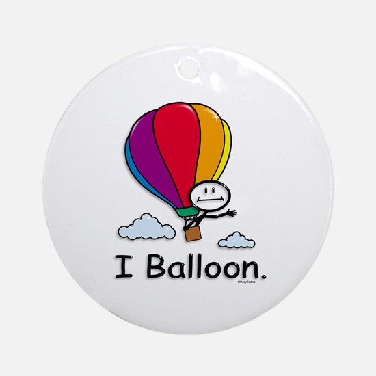 Hot Air Ballooning Ornament (Round)