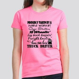 Proudly Taken by a Truck Driv Women's Dark T-Shirt
