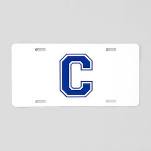 C-var blue2 Aluminum License Plate
