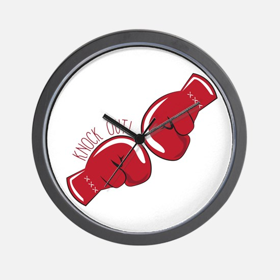 Knock Out Wall Clock