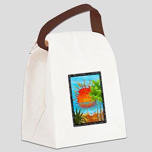 BEACH DAZE Canvas Lunch Bag