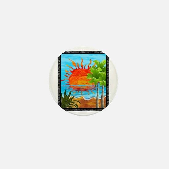 BEACH DAZE Mini Button